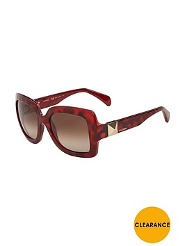 valentino-oversized-rockstud-sunglasses-red