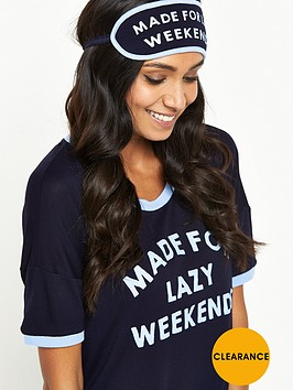 chelsea-peers-chelsea-peers-lazy-weekends-night-shirt-and-eye-mask-set
