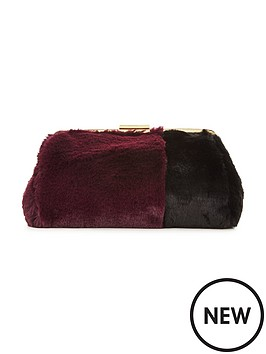 v-by-very-faux-fur-gold-frame-clutch