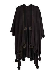 v-by-very-pom-pom-detail-fleece-cape