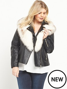 ri-plus-faux-fur-collar-biker-jacket