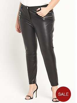 ri-plus-zip-pu-skinny-trousers-black