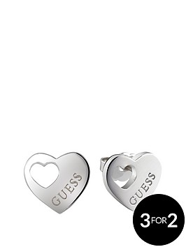 guess-rhodium-plated-cut-out-heart-earrings
