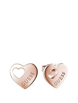 guess-rose-gold-plated-cut-out-heart-earrings