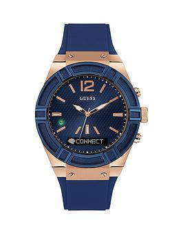 guess-connect-blue-dial-blue-silicone-strap-smartwatch