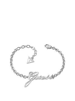 guess-rhodiumnbspplated-logo-bracelet