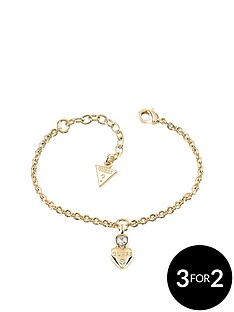 guess-gold-plated-mini-heart-charm-bracelet