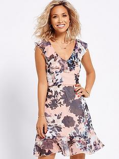 myleene-klass-ruffle-front-printed-dress