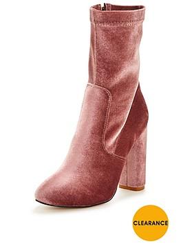 glamorous-high-leg-sock-boot