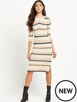 river-island-striped-knitted-midi-dress