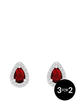 love-gem-sterlingnbspsilver-red-and-white-cubic-zirconianbsppeardropnbspstud-earrings