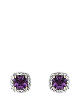 love-gem-9ctnbspyellow-gold-amethyst-and-diamond-set-earrings