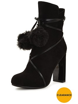 lost-ink-alicenbspfaux-fur-pom-pom-ankle-bootnbsp