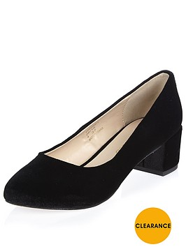 river-island-velvet-block-heel-ballet-shoe