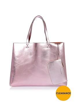 river-island-metallic-beach-bag