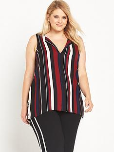 ri-plus-stripe-sleeveless-top