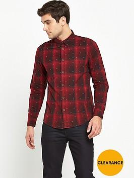 lee-button-down-long-sleeve-check-shirt