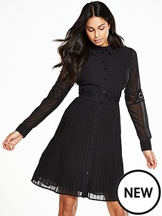 v-by-very-lace-insert-pleated-shirt-dress