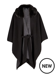 v-by-very-fur-trim-belted-fleece-cape
