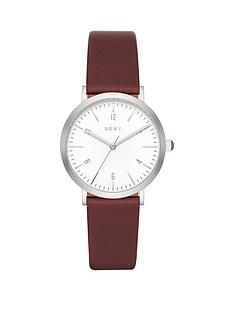 dkny-minetta-white-dial-wine-leather-strap-ladies-watch
