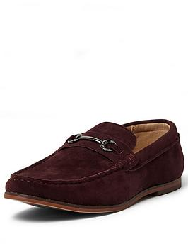 river-island-snaffle-loafer-burgundy