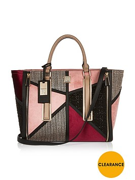 river-island-boucle-patchwork-tote-bag