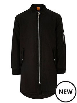 river-island-boys-black-longline-bomber-jacket