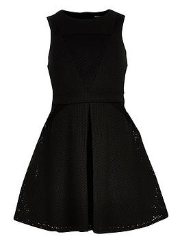river-island-girls-black-laser-cut-mesh-dress
