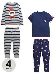 mini-v-by-very-boys-mr-cool-snowman-pyjamas-4-piece