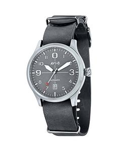avi-8-avi-8-flyboy-grey-dial-grey-leather-nato-strap-mens-watch