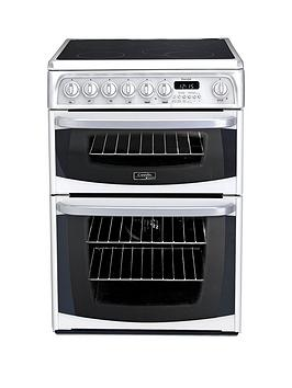 cannon-by-hotpointnbspch60ekws-60cm-electric-double-oven-cooker-with-ceramic-hob-white