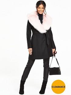 v-by-very-faux-fur-shawl-collar-coat
