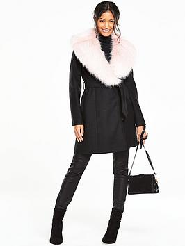 v-by-very-faux-fur-shawl-collar-coat