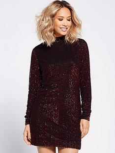 myleene-klass-all-over-sequin-shift-dress-red