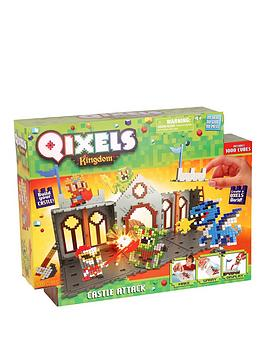 qixels-quixels-kingdom-castle-attack-playset