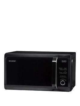 sharp-r664km-20l-800w-microwave-with-grill-black