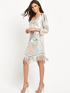 maya-embellished-plunge-front-tassel-mini-dress-greyblue