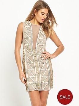 maya-embellished-mesh-v-neck-mini-dress-nude