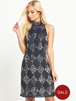 maya-high-neck-embellished-mini-dress-navy