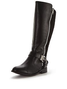 so-fabulous-arleene-extra-wide-fit-buckle-detail-knee-boot-black