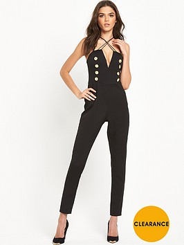 rare-rare-cross-strap-military-button-jumpsuit