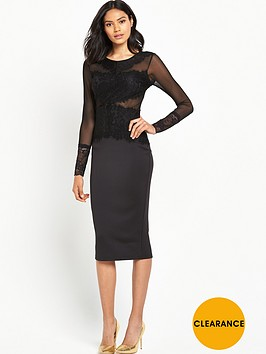 ax-paris-crochetnbspfront-panel-bodycon-dress-black