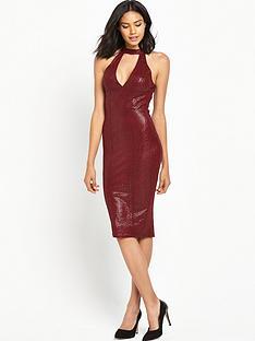 ax-paris-high-neck-midi-bodycon-dress-red