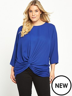 so-fabulous-knot-front-34-sleeve-blouse