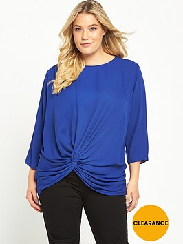 v-by-very-curve-knot-front-34-sleeve-blouse