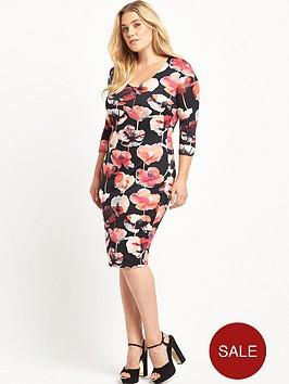 so-fabulous-v-neck-scuba-bodycon-dress-floral-print