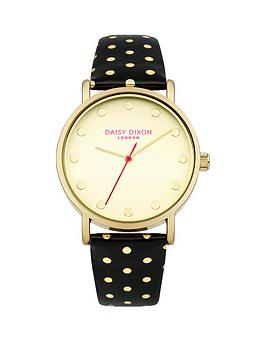 daisy-dixon-candice-gold-dial-black-gold-polka-dot-pu-strap-ladies-watch
