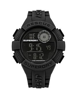 superdry-superdry-radar-black-digital-dial-black-silicone-strap-mens-watch