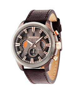police-police-cyclone-brown-dial-brown-leather-strap-mens-watch