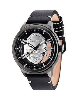 police-police-predator-gun-dial-black-leather-strap-mens-watch